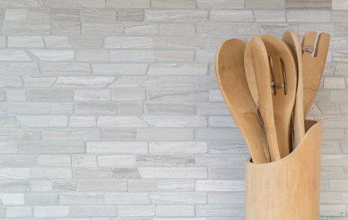 Mozaik MOSBRICK2012 Style Brick Marmor uni grau Streifen 305x322
