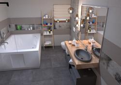 3D izris kopalnice