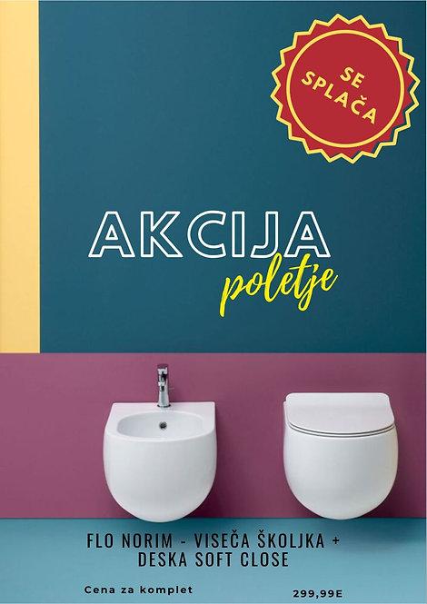 FLO NORIM višeča WC školjka + deska
