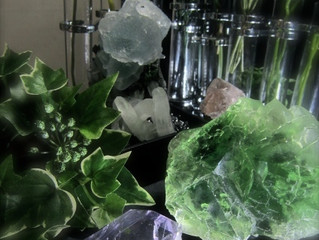 Collage Style Photo (Fluorite)