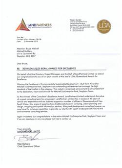 Land Partners congratulatory letter 001