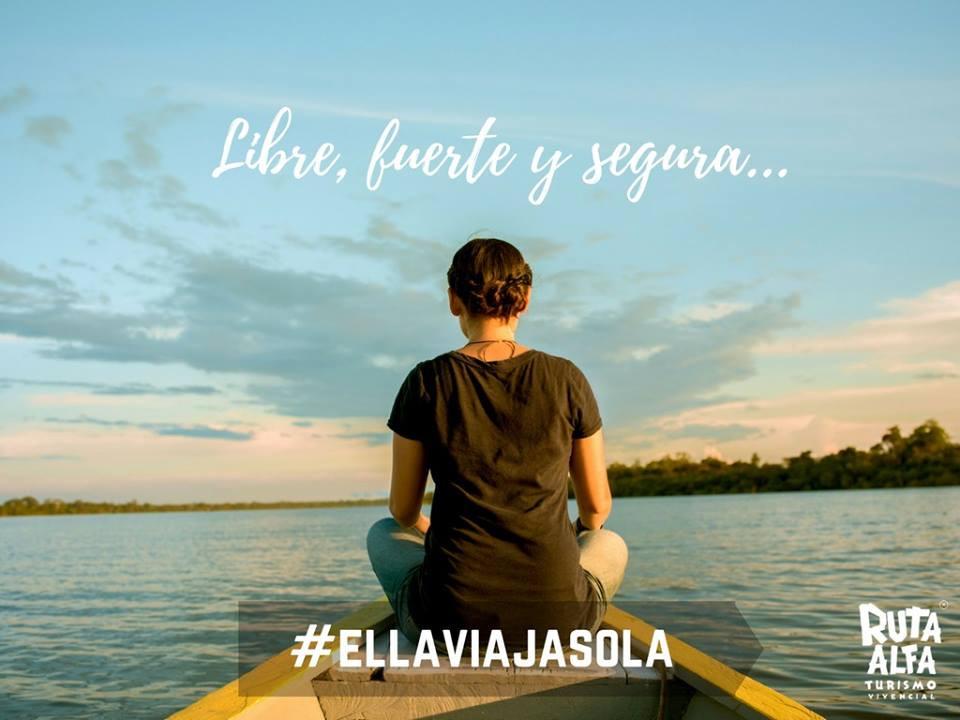 Ella viaja sola y esta segura con Ruta Alfa Pucallpa Yarinacocha Ucayali Peru