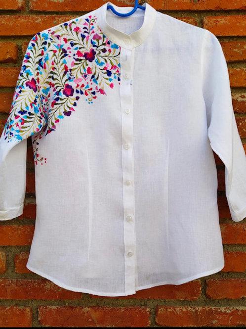 6 linen shirt hand embroidered