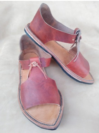 6 Genuine leather hand made sandals