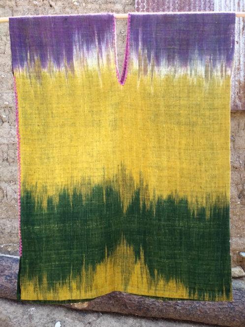 Wearable art, multicolor huipil