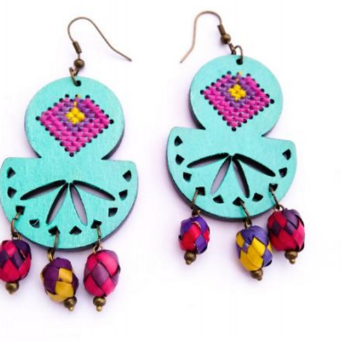 12 papel picado earrings