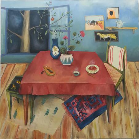 Malerei / Zu Tisch