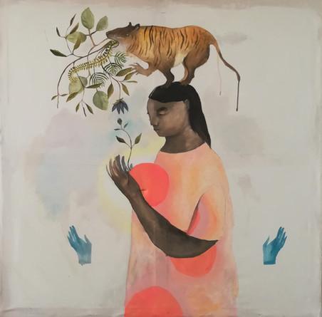 Malerei / Tigerfrau