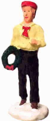 #4075 - Boy Holding Wreath