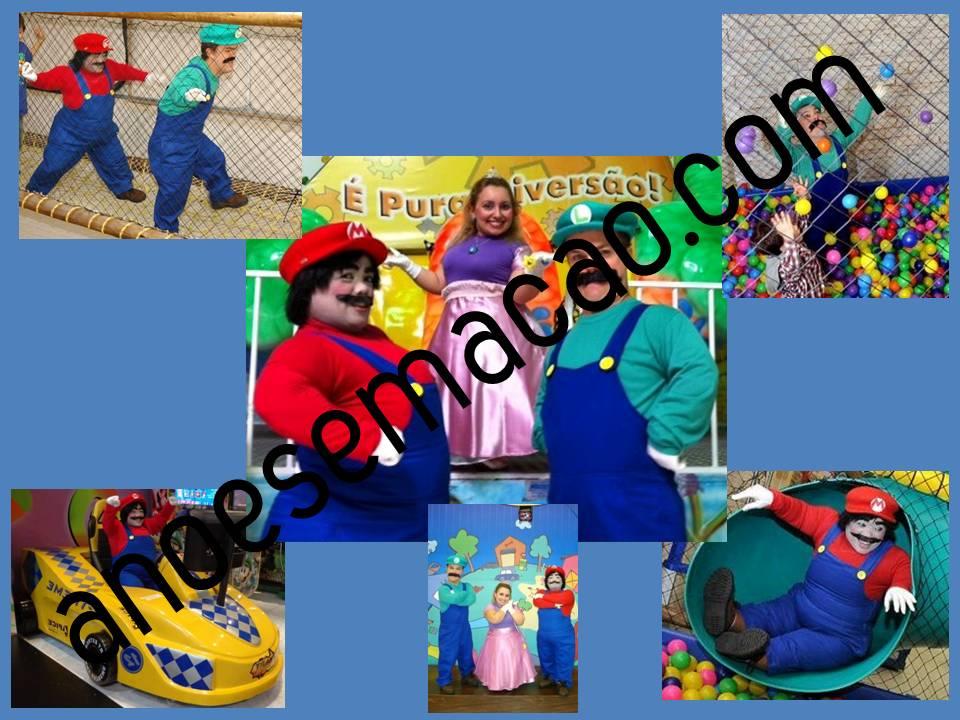 Mario Bros, Luigi e Princesa Peach
