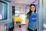 Payton at her internship at NASA Kennedy!