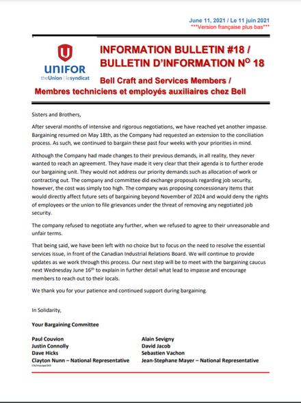 Bell Bulletin #18