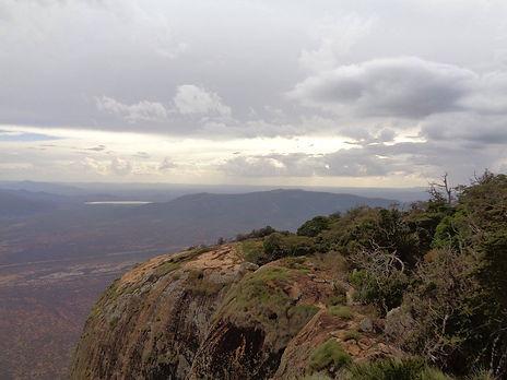 Hiking at Namunyak, Northern Kenya