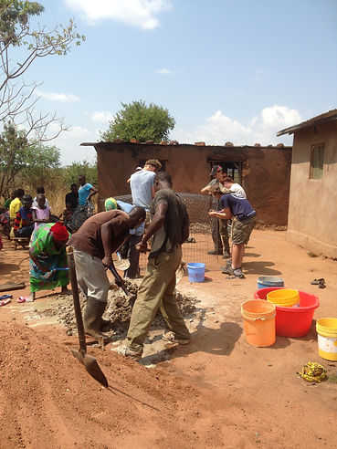 Volunteer building project, Musoma, Tanzania