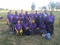 Menstrual health women's group. Gap Year team, Musoma, Tanzania