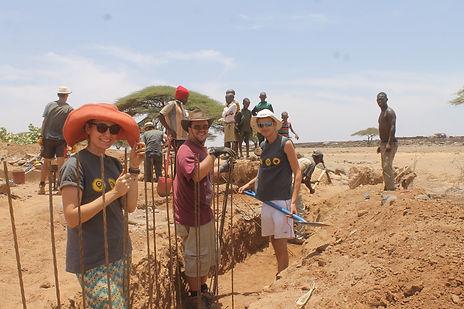 Gap Year volunteers building dam, Marsabit, Kenya