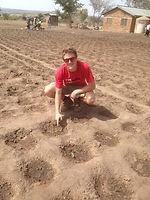 Teaching new farming techniques, Musoma, Tanzania