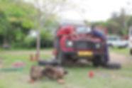 Land Rover mechanics, Eagle Lodge, Musoma