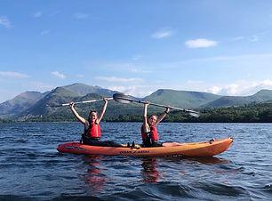 Maddie & Becky kayaking.JPG