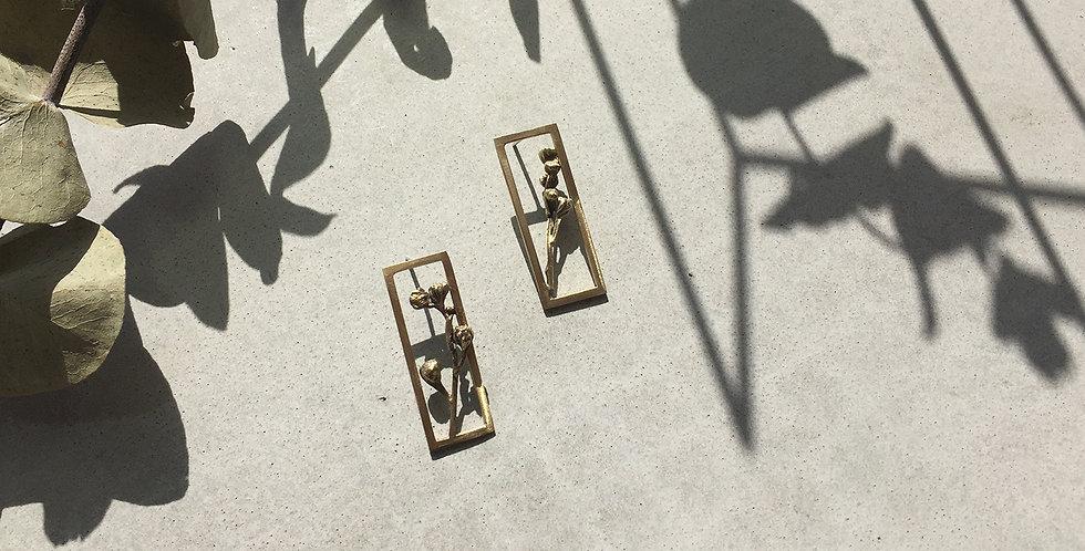 Brass Frame Earring (single)