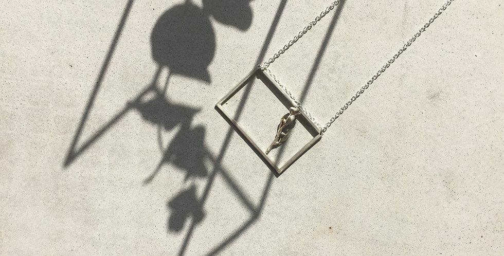 Silver Frame Necklace (5x2.5)