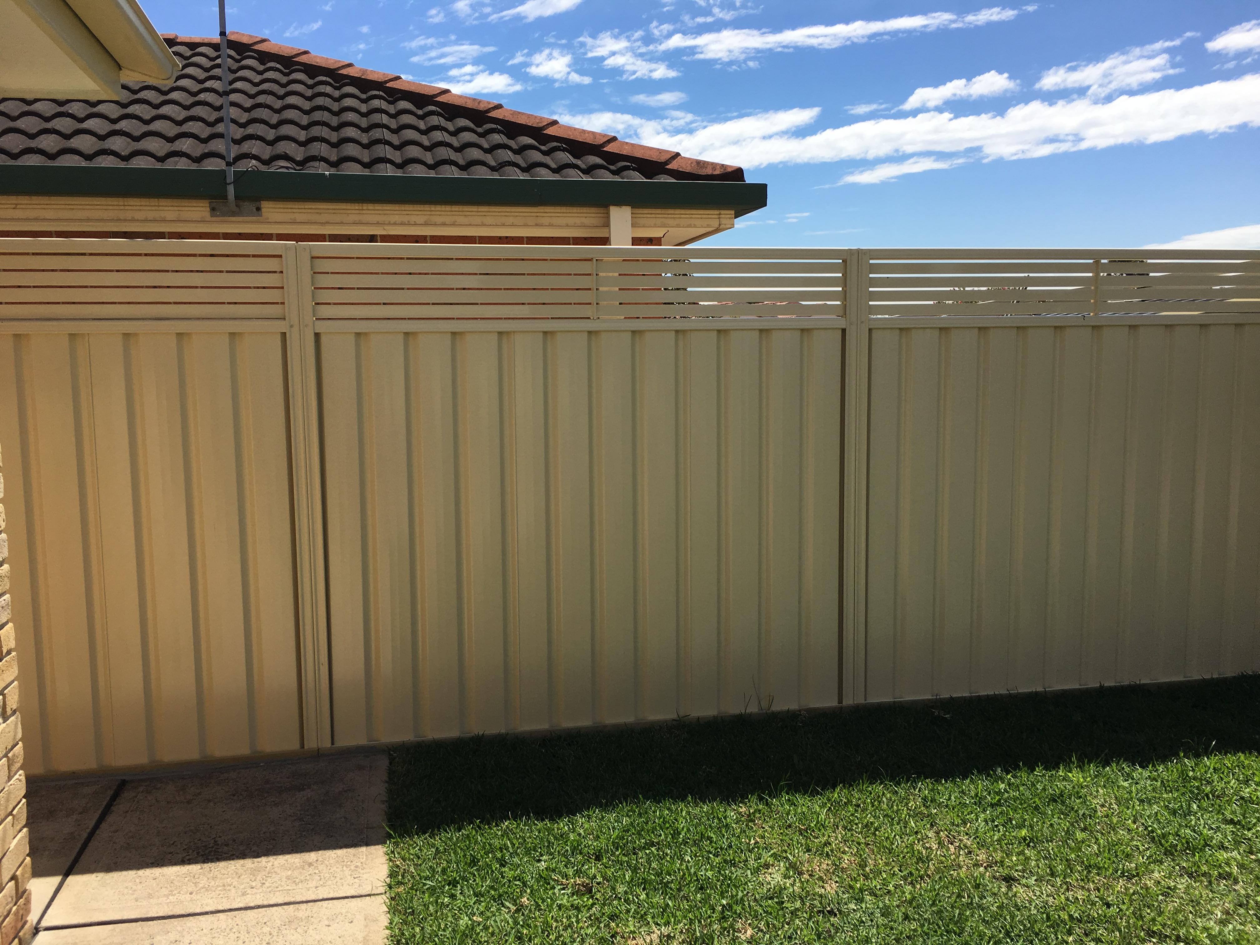 slat insert Colorbond fencing 2
