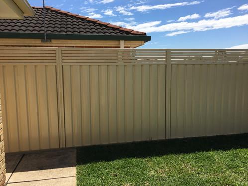 Slat Height Extension Panels 600mm H Fencing Sydney