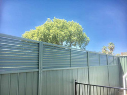 Colorbond Fence Height Extension with Louvres