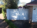Colorbond Double Gate with Lattice Inserts