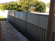 Colorbond Fence 600mm Louvre Height Extension