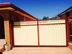 Colorbond Double Gate with Lattice Inserts Sydney