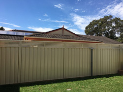 Colorbond fence with slat inserts