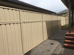 Colorbond Fence Height Extension with Sheeting