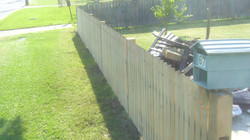 Front Timber Picket Fence