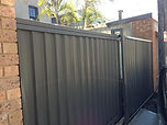 Sliding Colorbond Gate Sydney