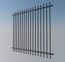 Black Security Fence Panel 2.1m (H) Panel Only