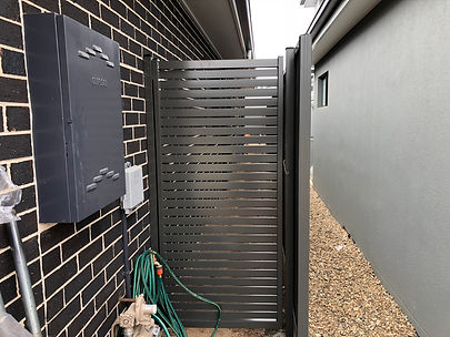Aluminium Horizontal Slat Gates Free Measure & Quote