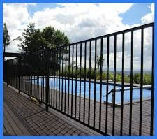 Black Flat Top Aluminium Pool Fence Panel 1.2m (H) Panel Only