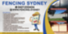 Fencing Sydney Colorbond Fening Banner