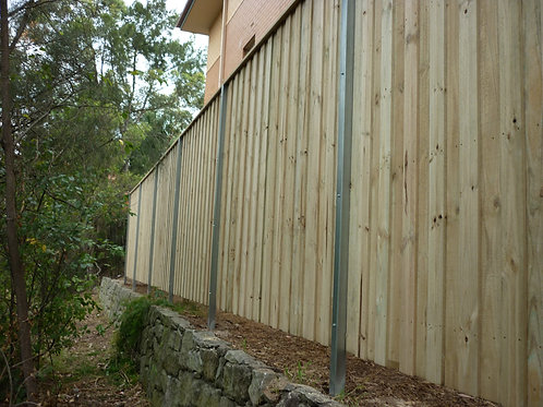 Double Lap & Cap Treated Pine Timber Fencing $49 Per Meter