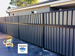 Colorbond Fence Height Extsnion with Sheet Infills 600mm High