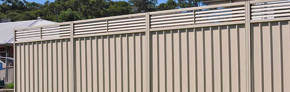 Colorbond Fence Panel with LOUVRE Inserts 2.1m Total Height