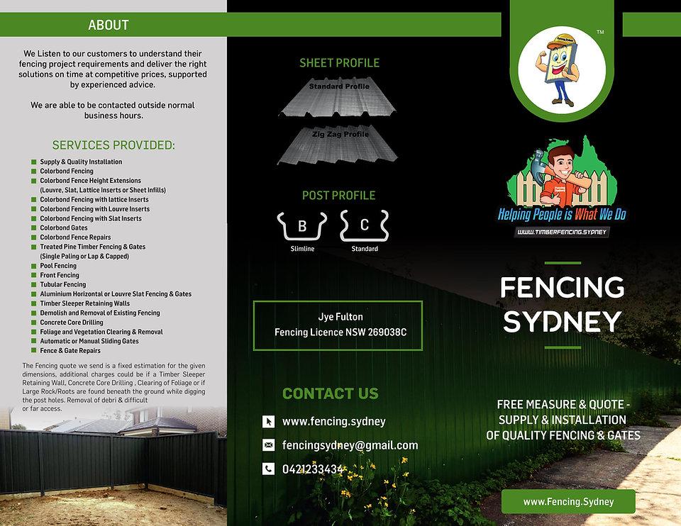Fencing Sydney Brochure