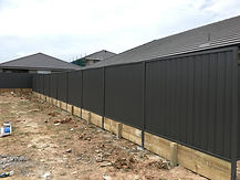 Colorbond Fence with Retaining Wall