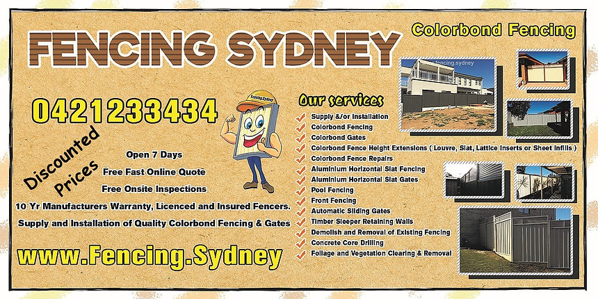 Fencing Sydney Services List