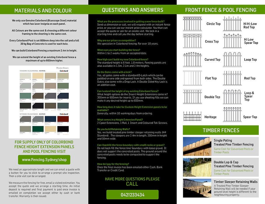 Fencing Brochure
