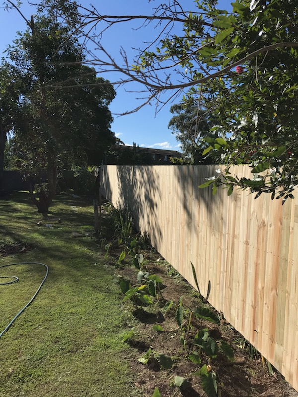 merrylands timber fence