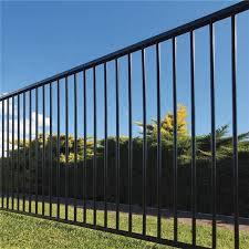 Black Flat Top Aluminium Pool Fence Panel 1.2m (H) Complete Panel