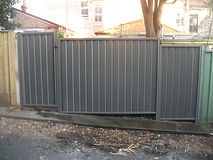Colorbond fence with Colorbond Gate