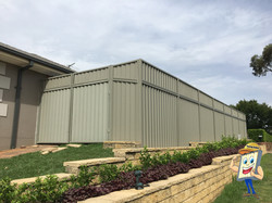 Colorbond Fence Height Extension with Sheetingxt